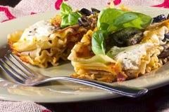 Vegetarian Lasagna Dinner Stock Photos