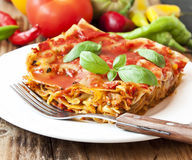 Vegetarian Lasagna Royalty Free Stock Image