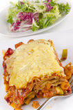 Vegetarian lasagna on a plate Stock Photo