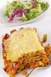 Vegetarian lasagna on a plate Stock Photo