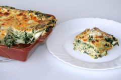 Vegetarian lasagne with ricott Royalty Free Stock Photos
