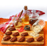 Vegetarian lean of oatmeal cookies, honey, olive oil and candied Stock Photography