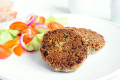 Vegetarian lentil burger Royalty Free Stock Photography