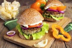 Vegetarian lentil burger Stock Image