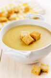 Vegetarian lentil cream soup Royalty Free Stock Image