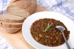 Vegetarian lentil soup Stock Image