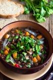 Vegetarian lentil soup (stew) Stock Photos