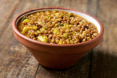 Vegetarian lentil stew Royalty Free Stock Photos