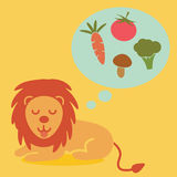 Vegetarian lion Stock Images