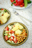 Vegetarian lunch with potato and salad Royalty Free Stock Image