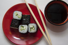 Vegetarian maki Stock Photos