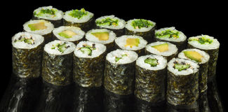 Vegetarian Maki Sushi Stock Images