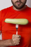 Vegetarian man Stock Photography