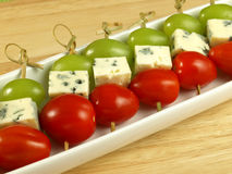 Vegetarian marinated fillets with blue cheese, Stock Photos