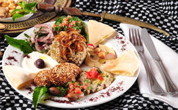 Vegetarian meal. Vegetarian food. Middle eastern cuisine Royalty Free Stock Images