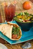 Vegetarian meatball sandwich Royalty Free Stock Image