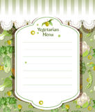 Vegetarian menu royalty free stock photo