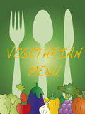 Vegetarian menu Stock Image