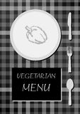 Vegetarian menu Royalty Free Stock Photo