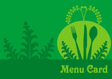 Vegetarian menu card design Royalty Free Stock Image