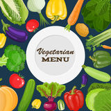 Vegetarian menu cover Stock Photography