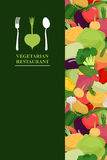 Vegetarian menu cover for restaurant or Cafe. Bunch of fresh Veg Royalty Free Stock Image
