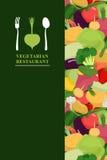 Vegetarian menu cover for restaurant or Cafe. Bunch of fresh Veg Royalty Free Stock Image