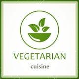 Vegetarian Menu Design Template Stock Image