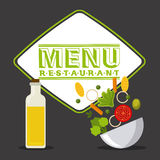 Vegetarian menu Stock Photography
