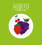 Vegetarian menu Stock Images