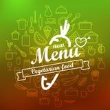Vegetarian menu label design Royalty Free Stock Images