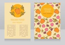 Vegetarian menu template Stock Images