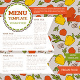 Vegetarian menu template Royalty Free Stock Photos