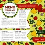 Vegetarian menu template Royalty Free Stock Image