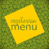 Vegetarian Menu Template Vector Illustration Royalty Free Stock Photography