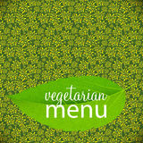 Vegetarian Menu Template Vector Illustration Stock Photos