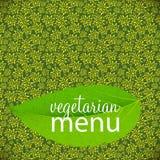 Vegetarian Menu Template Vector Illustration Stock Photos