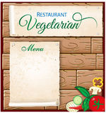 Vegetarian menu Royalty Free Stock Image