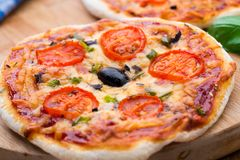 Vegetarian mini pizza Stock Photo