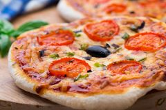 Vegetarian mini pizza Royalty Free Stock Photos