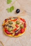 Vegetarian mini  pizza Royalty Free Stock Photos