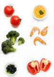 Vegetarian mix. On white background Royalty Free Stock Images
