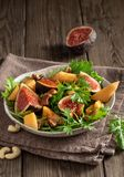 Vegetarian  mizuna salad royalty free stock photography