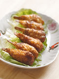 Vegetarian mock chicken drumsticks Royalty Free Stock Image