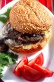 Vegetarian mushroom burger Stock Photography