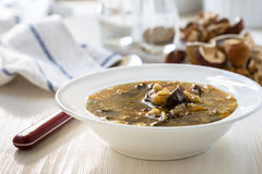 Vegetarian mushroom soup Stock Photo