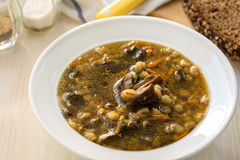 Vegetarian mushroom soup Royalty Free Stock Photo