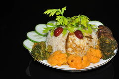 Vegetarian nasi lemak special Royalty Free Stock Photo