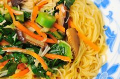 Vegetarian noodle delicacy Royalty Free Stock Photo