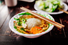 Vegetarian noodle soup Royalty Free Stock Image